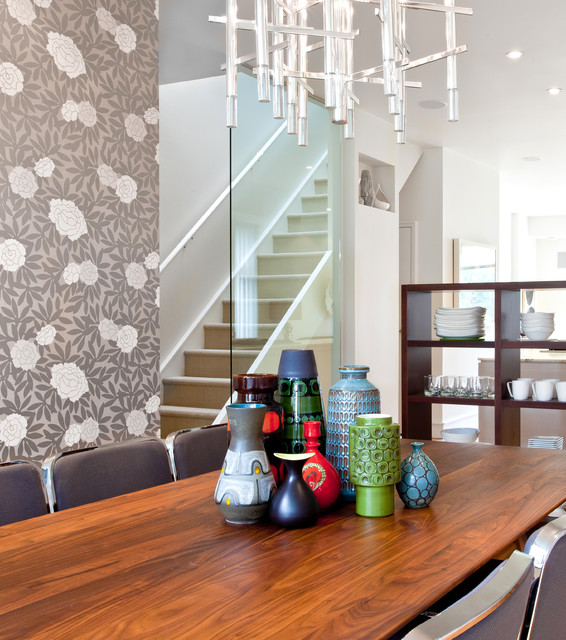 Stairwell modern-dining-room