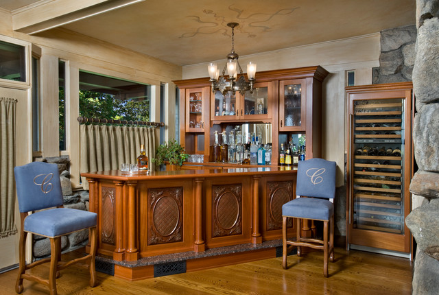 stamford residential bar traditional dining room new york by