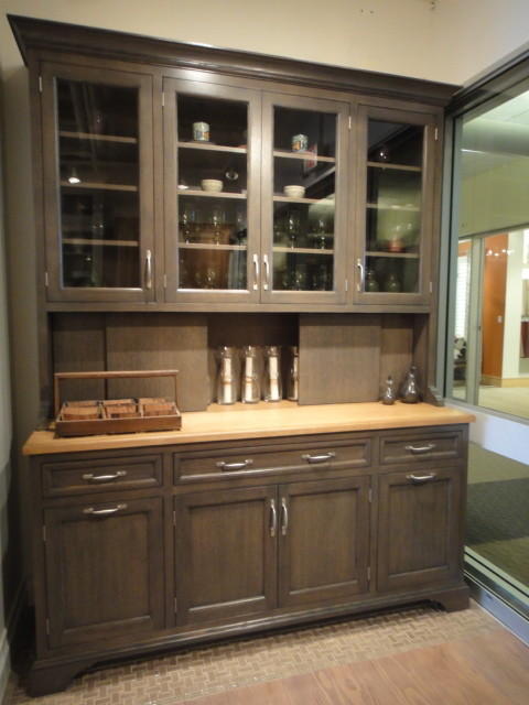 Stanford Hutch In Greyer Oak Traditional Dining Room