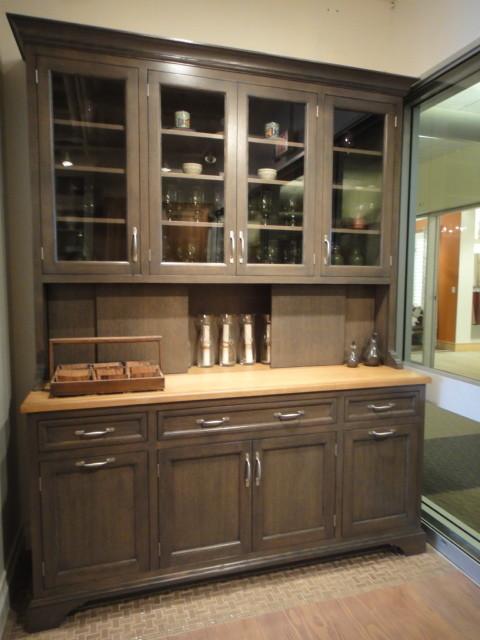 Stanford Hutch In Greyer Oak, Dining Room Hutch Buffet