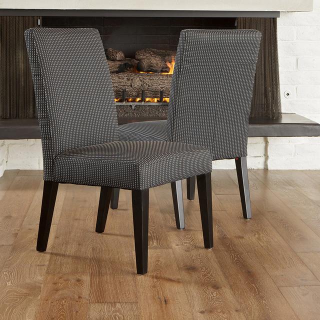 Stanton Dark Blue Fabric Dining Chairs (Set of 2) - Modern ...