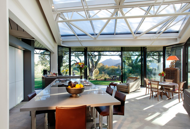 Steel & Glass contemporary-dining-room