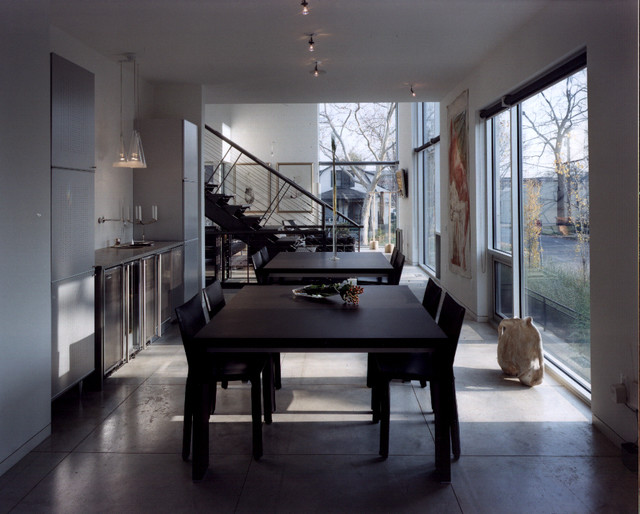 Steinhardt Residence - Modern - Dining Room - detroit - by McIntosh Poris Associates