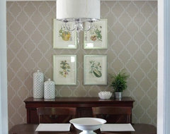 Stenciled Wall traditional-dining-room