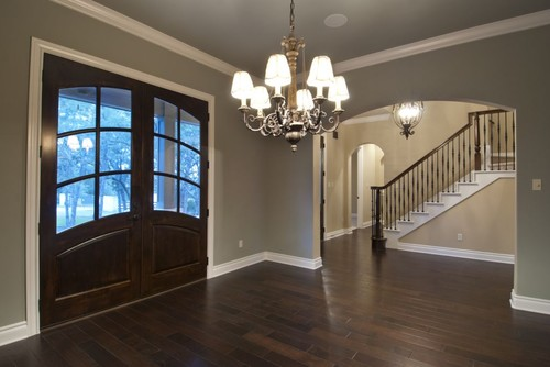 Foyer Paint Colors what color is the ceiling paint in the foyer? escape gray as well?
