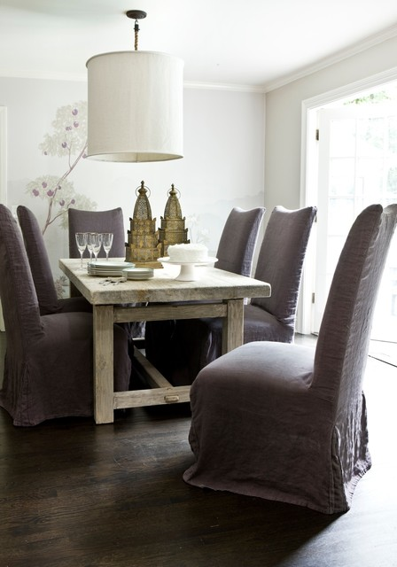 Contemporary Dining Room by Erica George Dines Photography