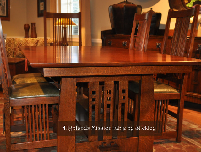 Stickley mission craftsman dining room wichita by traditions home - Mission style dining room furniture ...
