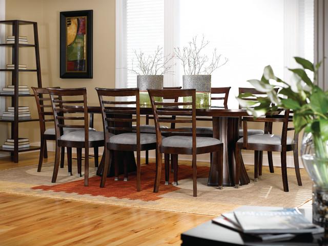 stickley split base pedestal table, Dining tables