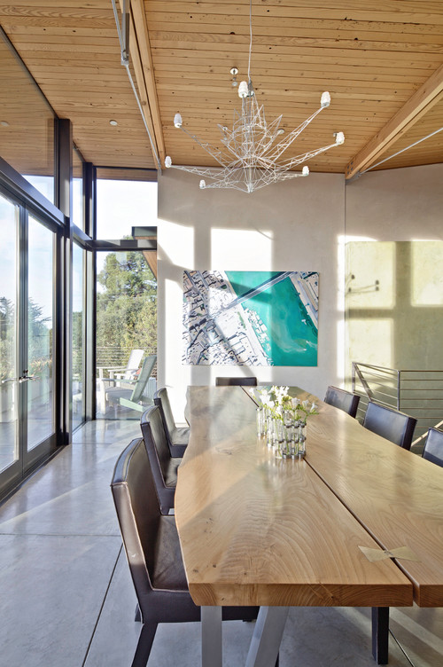 Stinson Beach House contemporary dining room