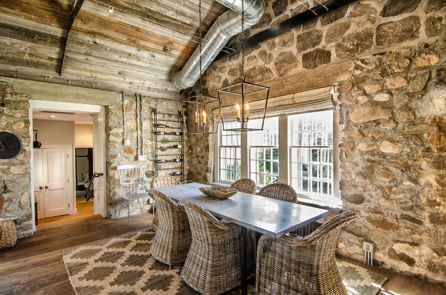 Stone Cottage And Barn Rustic Dining Room
