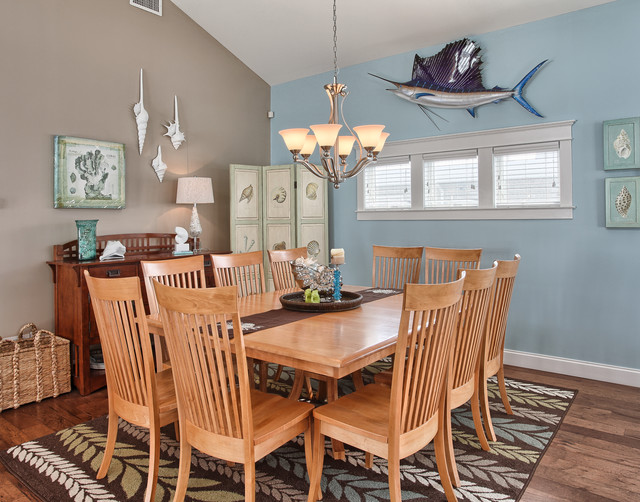 Stone Harbor NJ Beach Style Dining Room Other by Annie M Design