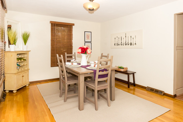 stoughton vacant home staging transitional dining room