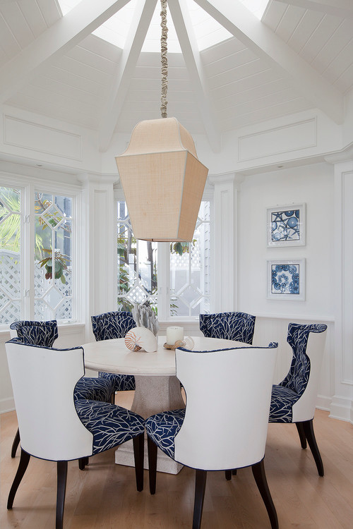 Dining Chair Plan Combining Patterned Fabric And Solid Vinyl New Patterned Dining Chairs