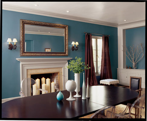 Stratford Blue Sw 2864 Traditional Dining Room
