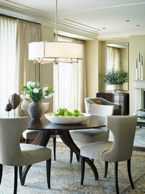 Streeterville Residence transitional-dining-room
