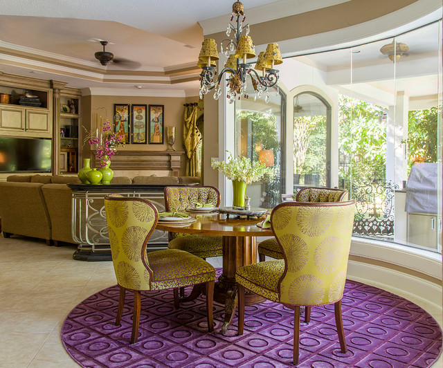 Striking Spunky And Sophisticated In The Woodlands Tx Eclectic Dining Room Houston By