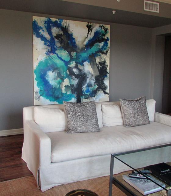 Studio Paintings Contemporary Dining Room