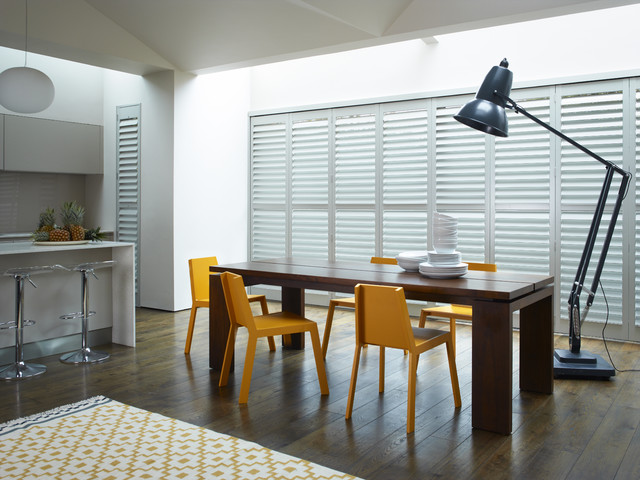 Stylish Interior Shutters - Modern - Dining Room - Dallas - by ...