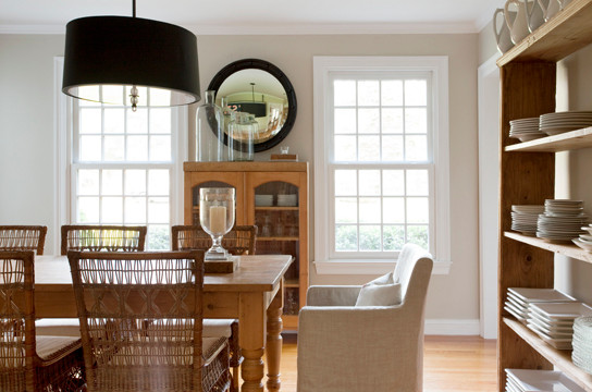 Suburb of Boston transitional-dining-room