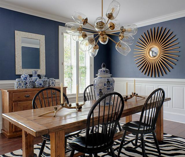 Transitional Dining Room Design Ideas: Suburban Family Home Renovation