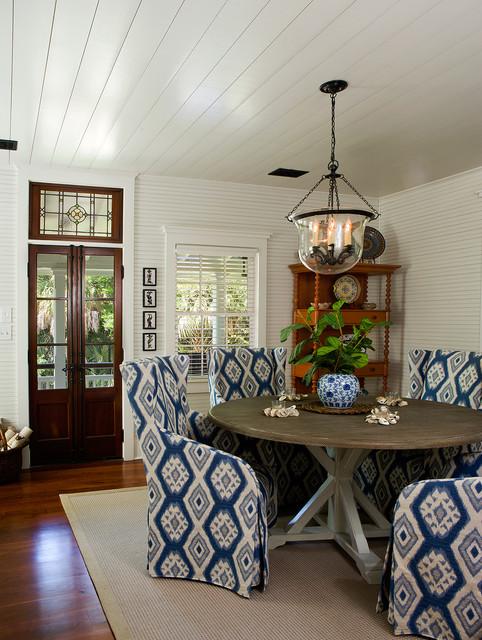 Sullivans island beach house beach style dining room