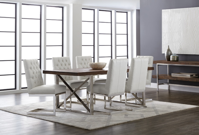 Sunpan Catalan Dining Table And Cavalli Chairs Contemporary Room