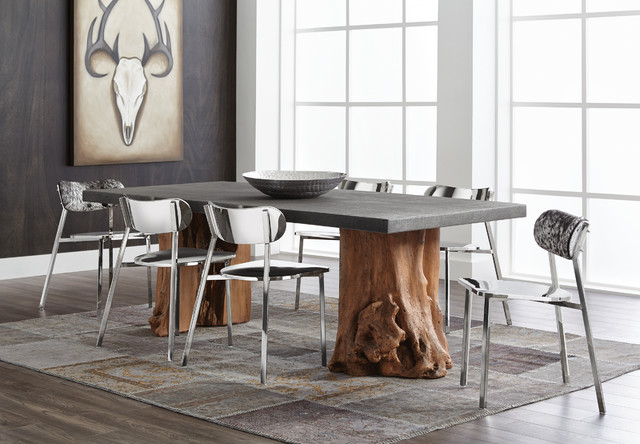 Sunpan Kismet Dining Table and Stanley Chairs - Contemporary ...