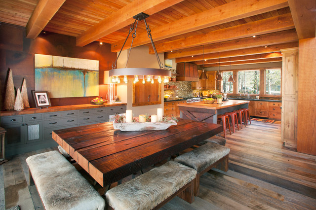 Sunriver Family Lodge - Contemporary - Dining Room - Portland - by ...