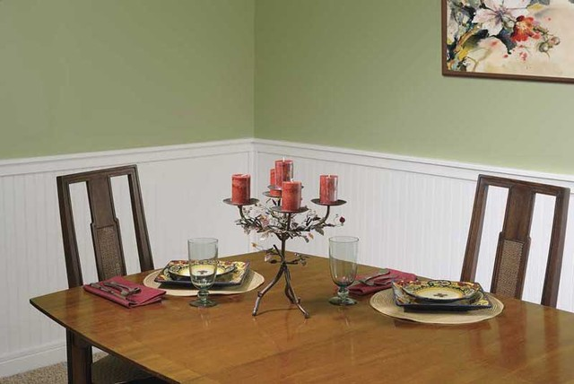 Perfect Supreme Wainscot Traditional Dining Room