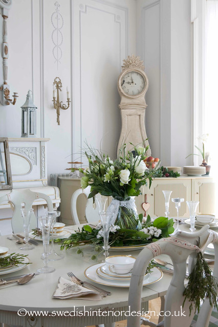 Swedish Antique Gustavian Dining Room Traditional
