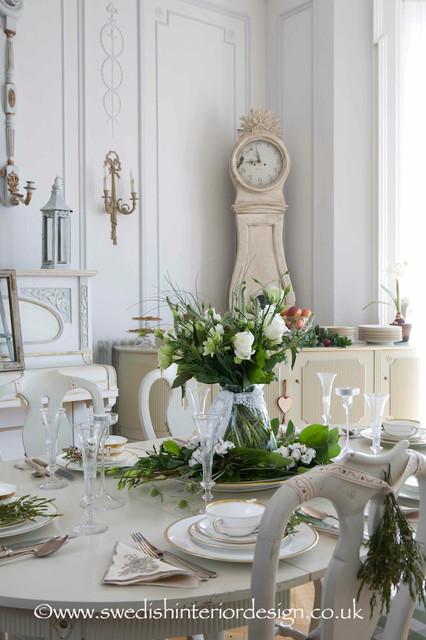 Swedish Antique Gustavian Dining Room traditional-dining-room