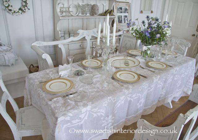 Swedish antique gustavian dining table setting for Swedish furniture london