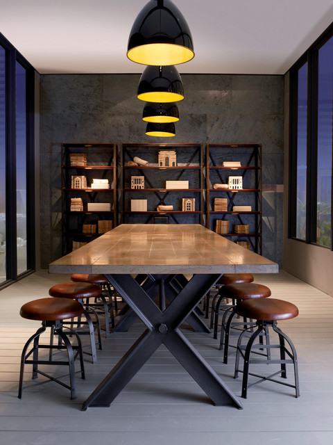 Syntaxe dining table industriel salle manger - Salle a manger design roche bobois ...