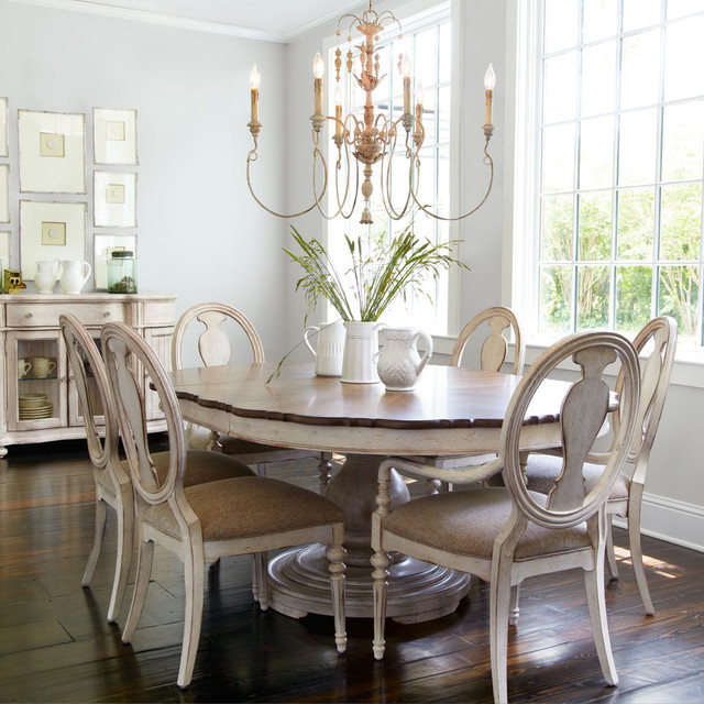 Tabitha dining furniture shabby chic style dining room by horchow - Shabby chic dining rooms ...