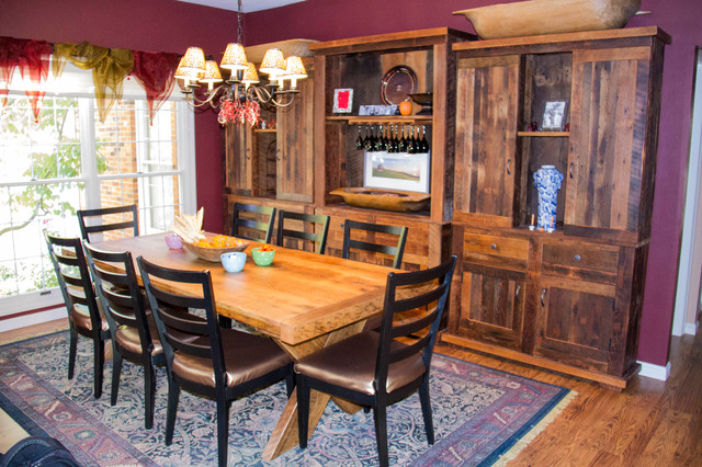 Table And 3 Piece Hutch Set Farmhouse Dining Room St