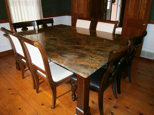 Table tops traditional dining room cleveland by for Traditional dining table bases
