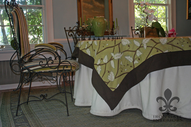 Tablecloths eclectic-dining-room