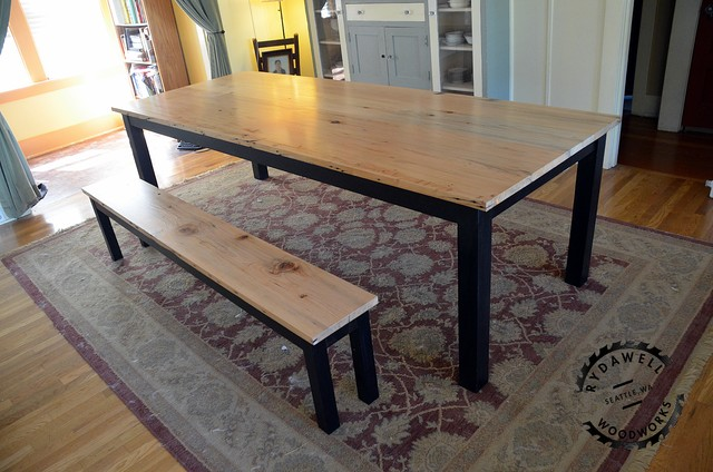 Tables traditional dining room seattle by rydawell for Reclaimed fir flooring seattle