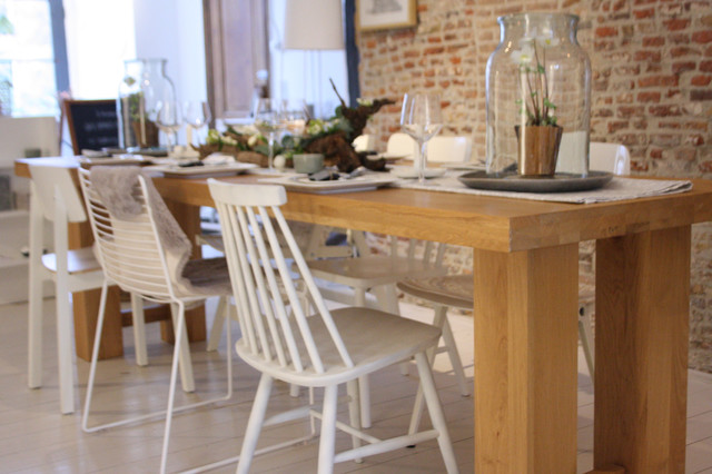Tablescape Rustic Modern - Contemporary - Dining Room - amsterdam - by Holly Marder