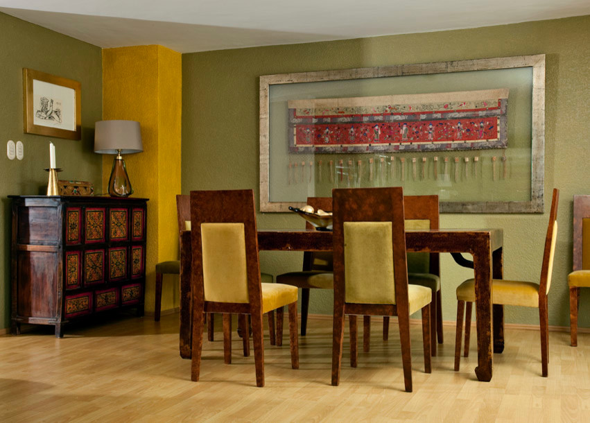 Elegant dining room photo in Mexico City
