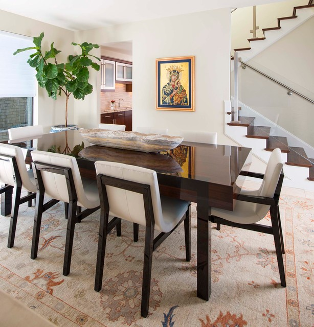 talebi rug collection contemporary dining room