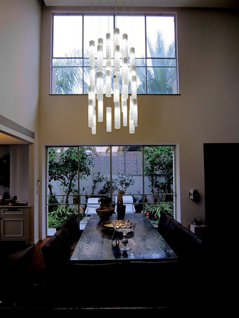 tanzania chandelier contemporary dining room new york by