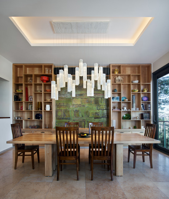 Charming Tanzania Fused Glass Dining Room Chandelier | Custom Light Fixture  Contemporary Dining Room