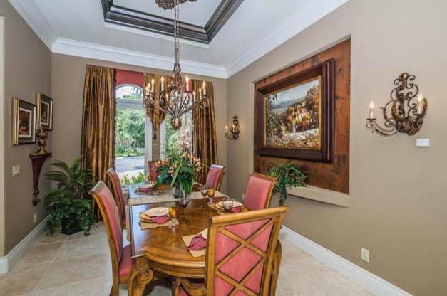 Tarpon Springs Resort-Inspired Home mediterranean-dining-room