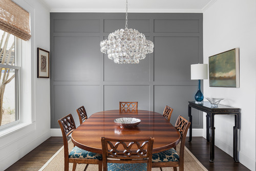Benjamin Moore Paint Colour Dark Accent Wall Dining Room