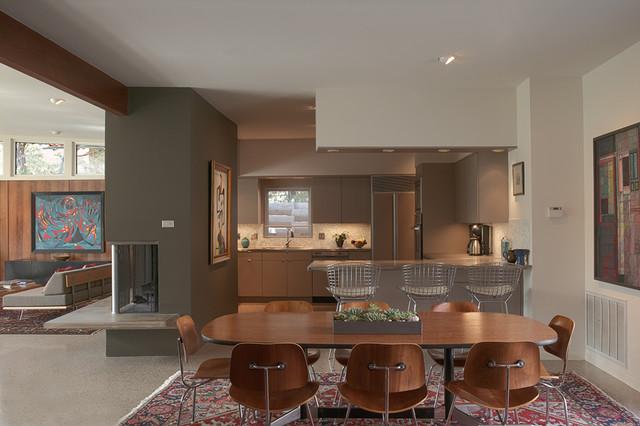 Tarrytown Residence midcentury-dining-room