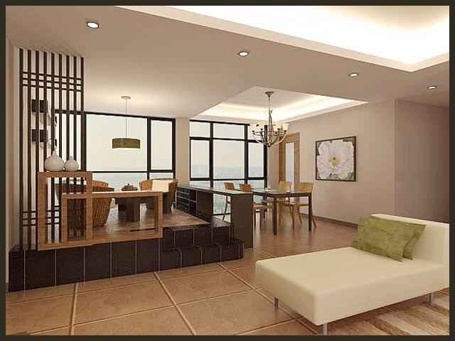 zen style dining room