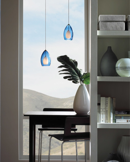Tech Lighting Low-Voltage Fire Pendant contemporary-dining-room