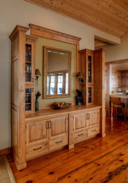 built in dining room hutch farmhouse dining room