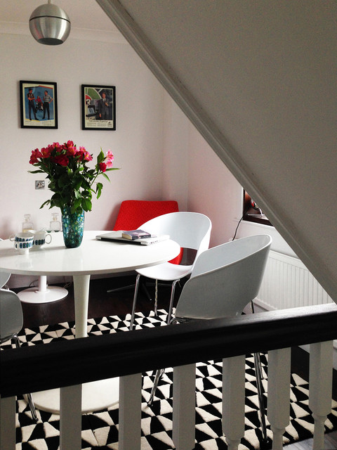 Terrace house contemporary dining room sussex by for Terraced house dining room ideas